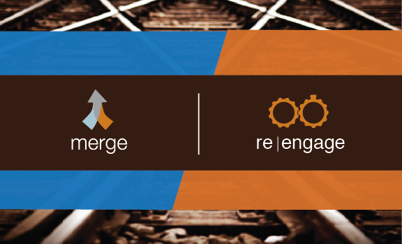 Merge & Re|engage Logos