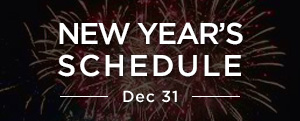 New Year's Schedule