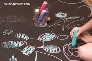Wet Chalk Drawings – Housing a Forest