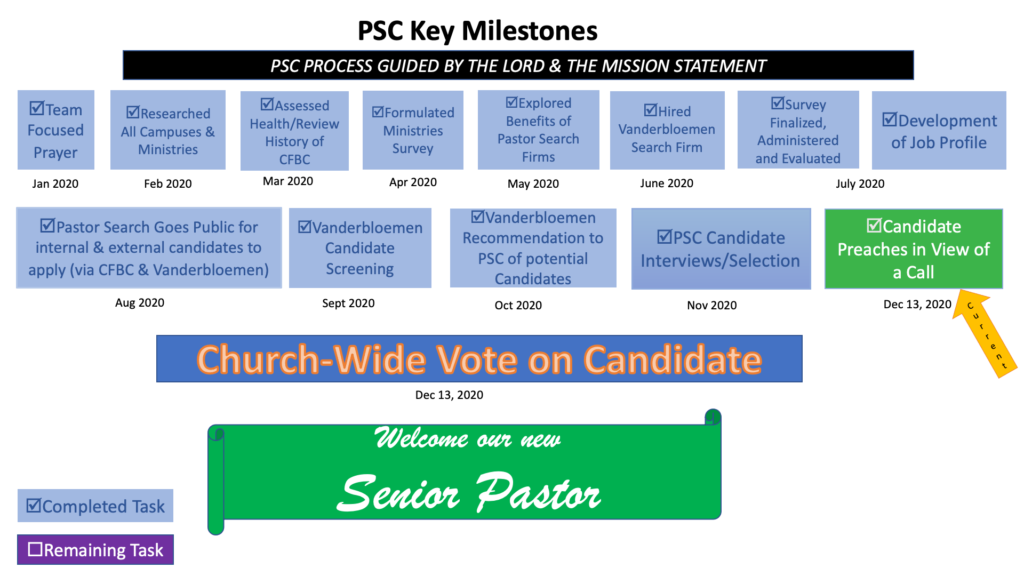 Pastor Search Committee Process Flow Chart